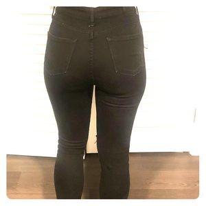 Cropped black Jean pants